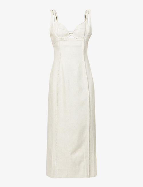 JACQUEMUS: La Robe Valerie woven midi dress