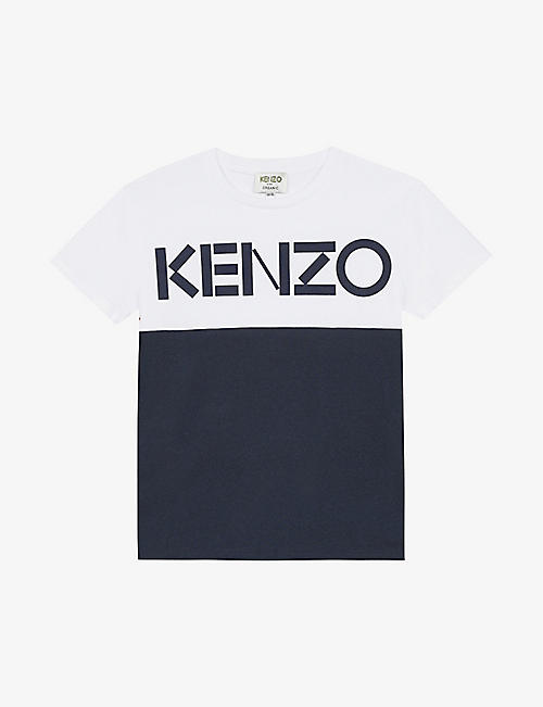 KENZO: Logo-print cotton T-shirt 4-14 years