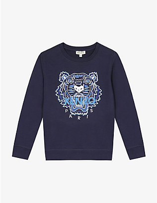 KENZO: Tiger cotton sweatshirt 4-14 years