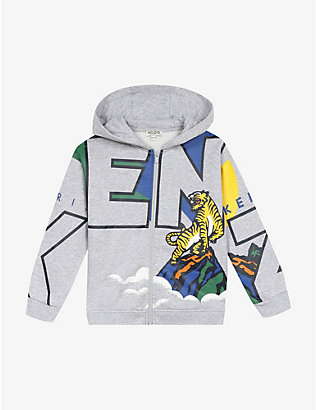 KENZO: Graphic-print cotton hoodie 4-14 years