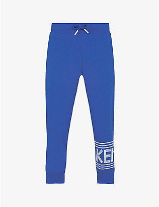 KENZO: Logo-print cotton-jersey jogging bottoms 4-14 years