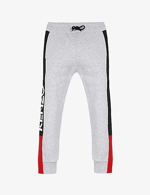 KENZO: Tape-print cotton-jersey jogging bottoms 4-14 years