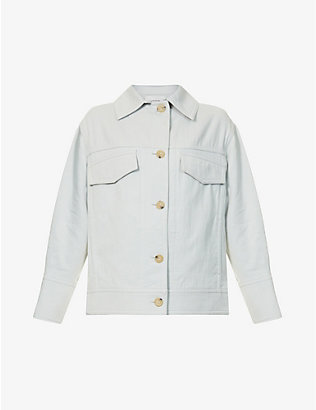 VINCE: Casual cotton-twill jacket