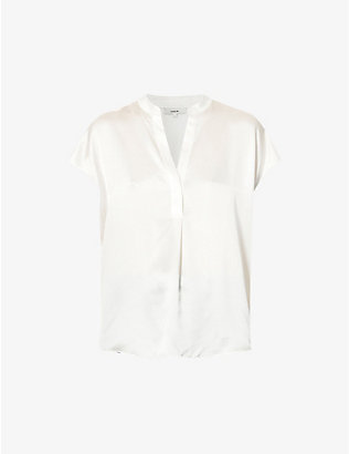 VINCE: Sleeveless silk top