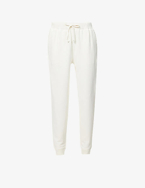 VINCE: Drawstring cotton-jersey jogging bottoms