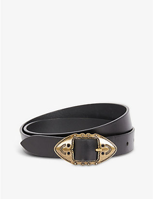ISABEL MARANT: Zacky leather belt