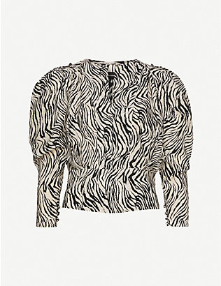 ISABEL MARANT: Zarga zebra-print stretch-silk top