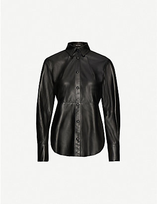 ISABEL MARANT: Xiao regualr-fit leather shirt