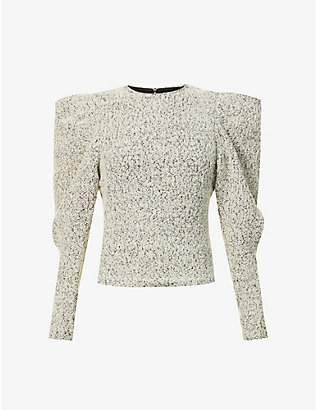 ISABEL MARANT: Hamili puff sleves wool-blend top