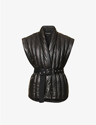 ISABEL MARANT: Ajali quilted leather gilet