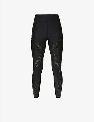 ULTRACOR: Crocodile print high-rise stretch-jersey leggings