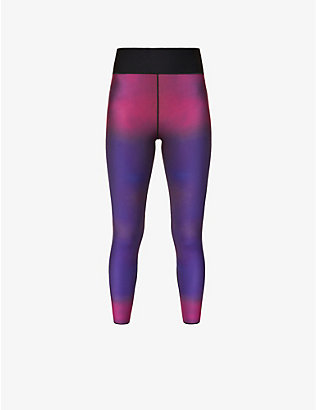 ULTRACOR: Undulate printed high-rise stretch-jersey leggings