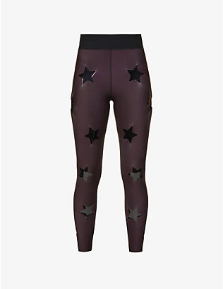 ULTRACOR: Super Drop star-print high-rise stretch-jersey leggings
