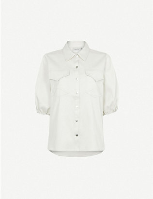GESTUZ: Vanjo short-sleeved cotton shirt