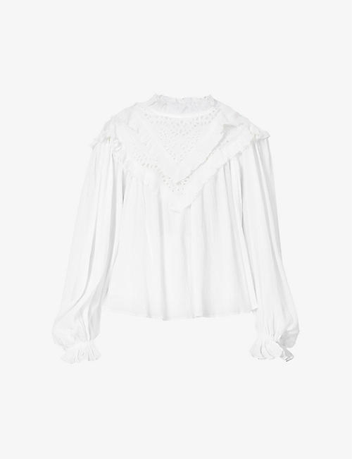 ISABEL MARANT ETOILE: Iodana crinkle cotton-blend top
