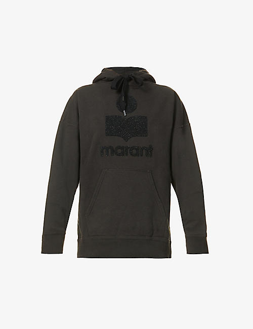 ISABEL MARANT ETOILE: Mansel logo-embroidered cotton-blend hoody