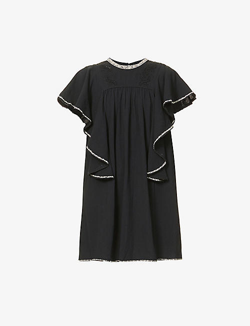ISABEL MARANT ETOILE: Reyes cotton mini dress
