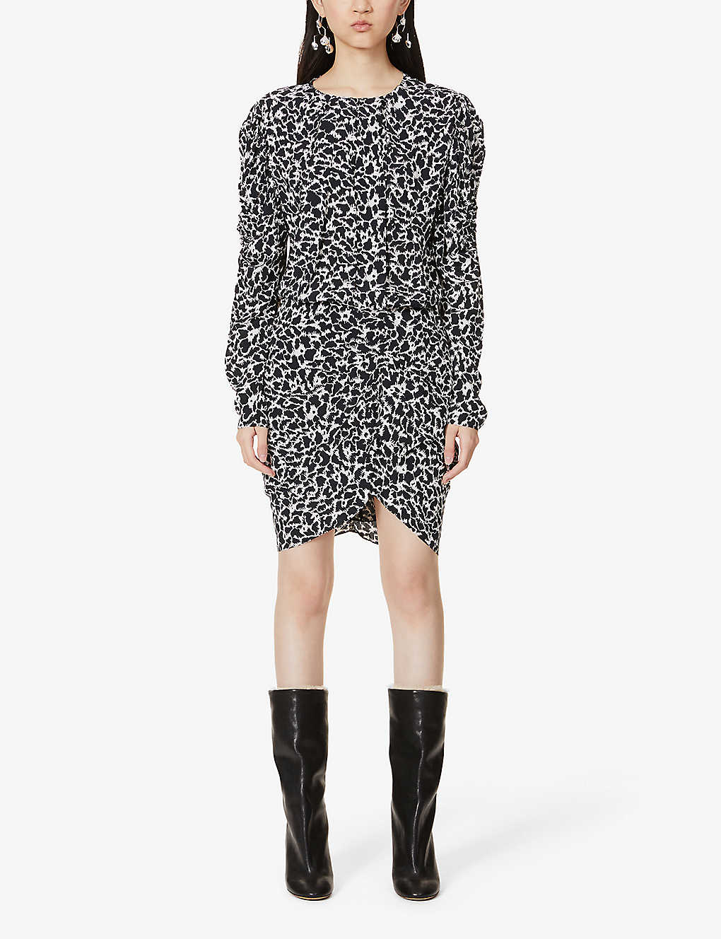 ISABEL MARANT ETOILE: Selwyn abstract-print crepe midi dress