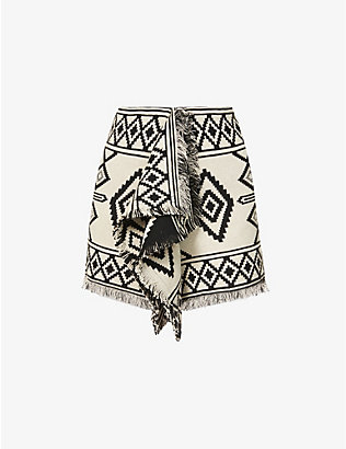 ISABEL MARANT ETOILE: Jiloa graphic-pattern cotton mini skirt