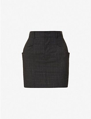 ISABEL MARANT ETOILE: Loxine wool-blend mini skirt
