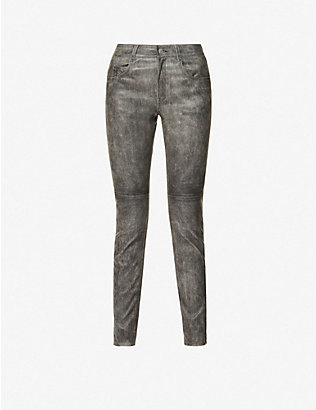 ISABEL MARANT ETOILE: Taro skinny high-rise leather trousers