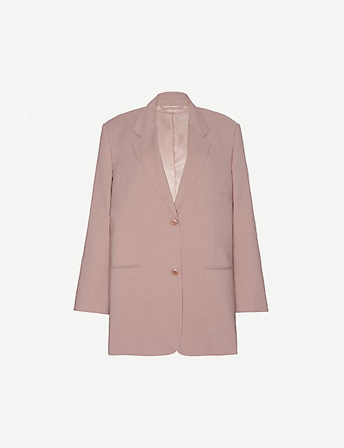 FRANKIE SHOP: Oversized single-breasted stretch-woven blazer
