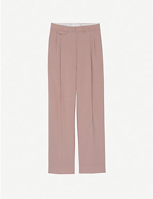 FRANKIE SHOP: Pernille high-rise wide stretch-woven trousers