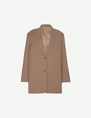 FRANKIE SHOP: Bea oversized single-breasted woven blazer