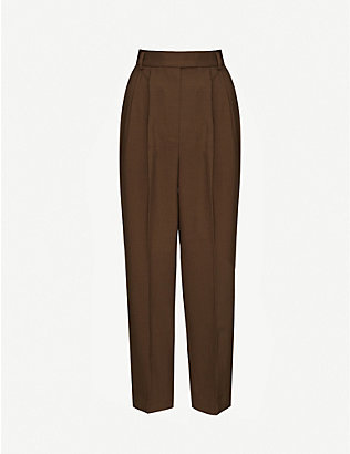 FRANKIE SHOP: Bea high-rise wide woven trousers