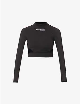 KIMHEKIM: Yoga cropped stretch-woven top