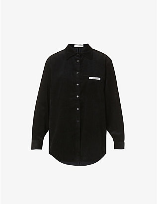 KIMHEKIM: Label oversized-fit corduroy shirt