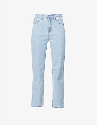 KIMHEKIM: Label tapered mid-rise jeans