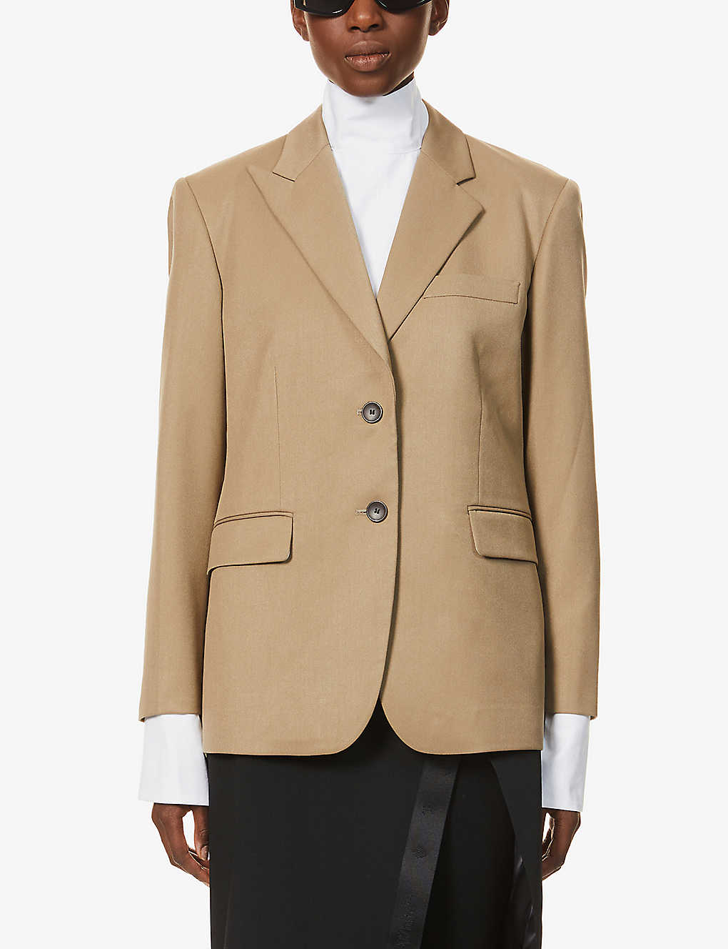 KIMHEKIM: Anne singe-breasted twill blazer