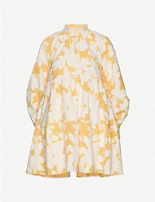 STINE GOYA: Floral-print Jasmine cotton-blend mini dress