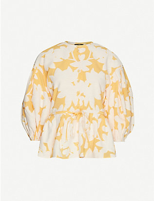 STINE GOYA: Ferrah floral-print cotton-blend blouse
