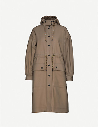 STINE GOYA: Mary hooded stretch-cotton coat