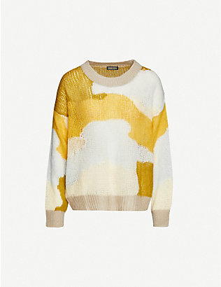 STINE GOYA: Sana patchwork knitted jumper