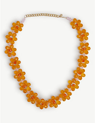 STINE GOYA: Illianna floral beaded necklace