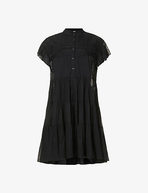 ISABEL MARANT ETOILE: Lanikaye tiered cotton mini dress