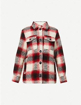 ISABEL MARANT ETOILE: Gastoni check wool-blend jacket