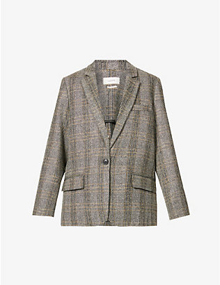 ISABEL MARANT ETOILE: Charly checked wool blazer
