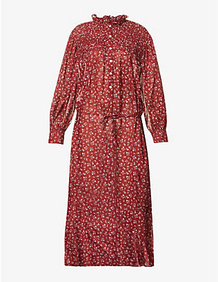 ISABEL MARANT ETOILE: Perkins floral-print cotton midi dress