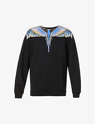 MARCELO BURLON: Wing-print cotton-jersey sweatshirt