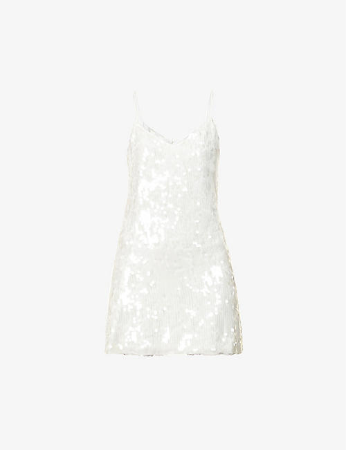 GALVAN: Mustique sequin-embellished mini dress