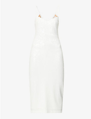 GALVAN: Verona sequinned midi dress