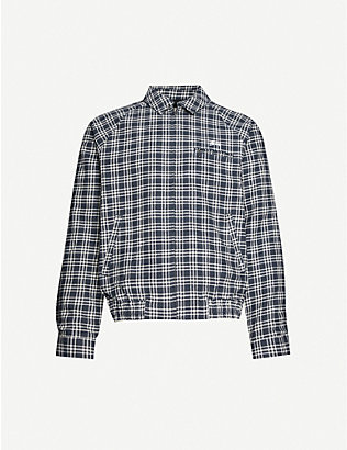 STUSSY: Bryan checked cotton and linen-blend jacket