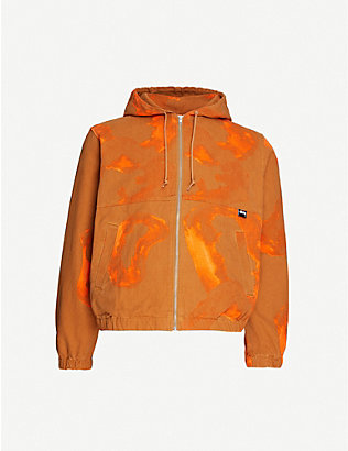 STUSSY: Printed cotton-drill jacket