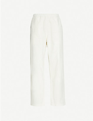 STUSSY: Easy wide-leg cotton trousers