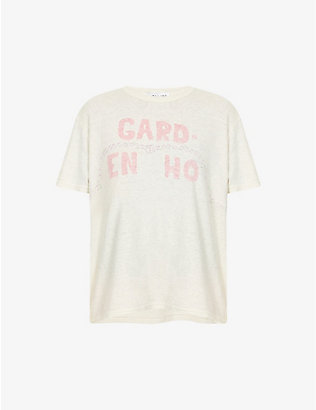 COLLINA STRADA: GARD-EN HO hemp and cotton-blend T-shirt