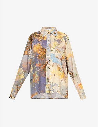 COLLINA STRADA: Mariposa floral-print recycled-cellulosic shirt